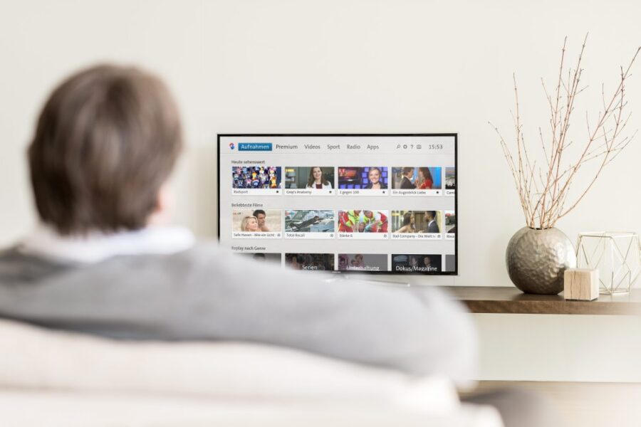 Swisscom TV Homescreen