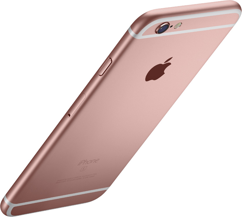 iPhone 6S in roségold